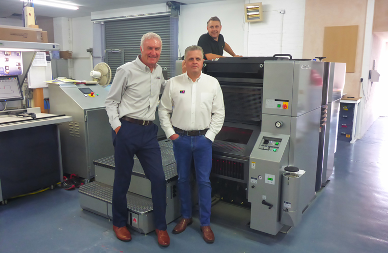 Brand-new Presstek 52DI Eco-UV at The Printed Word factory in Horsham, West Sussex
